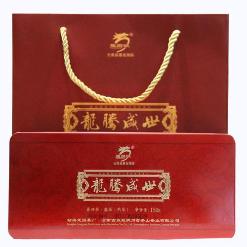 2014年龙园号龙腾盛世袋装散茶(熟茶) 150克