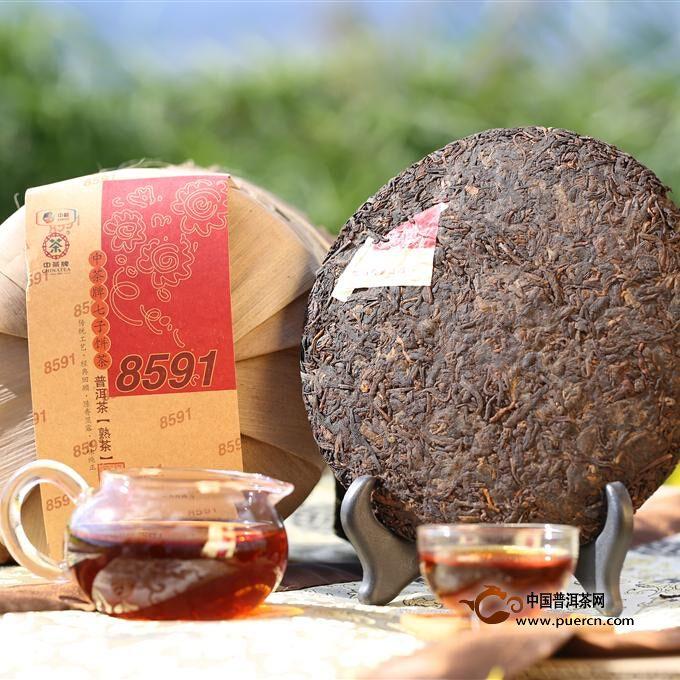 2014年中茶中茶 8591(熟茶)357克