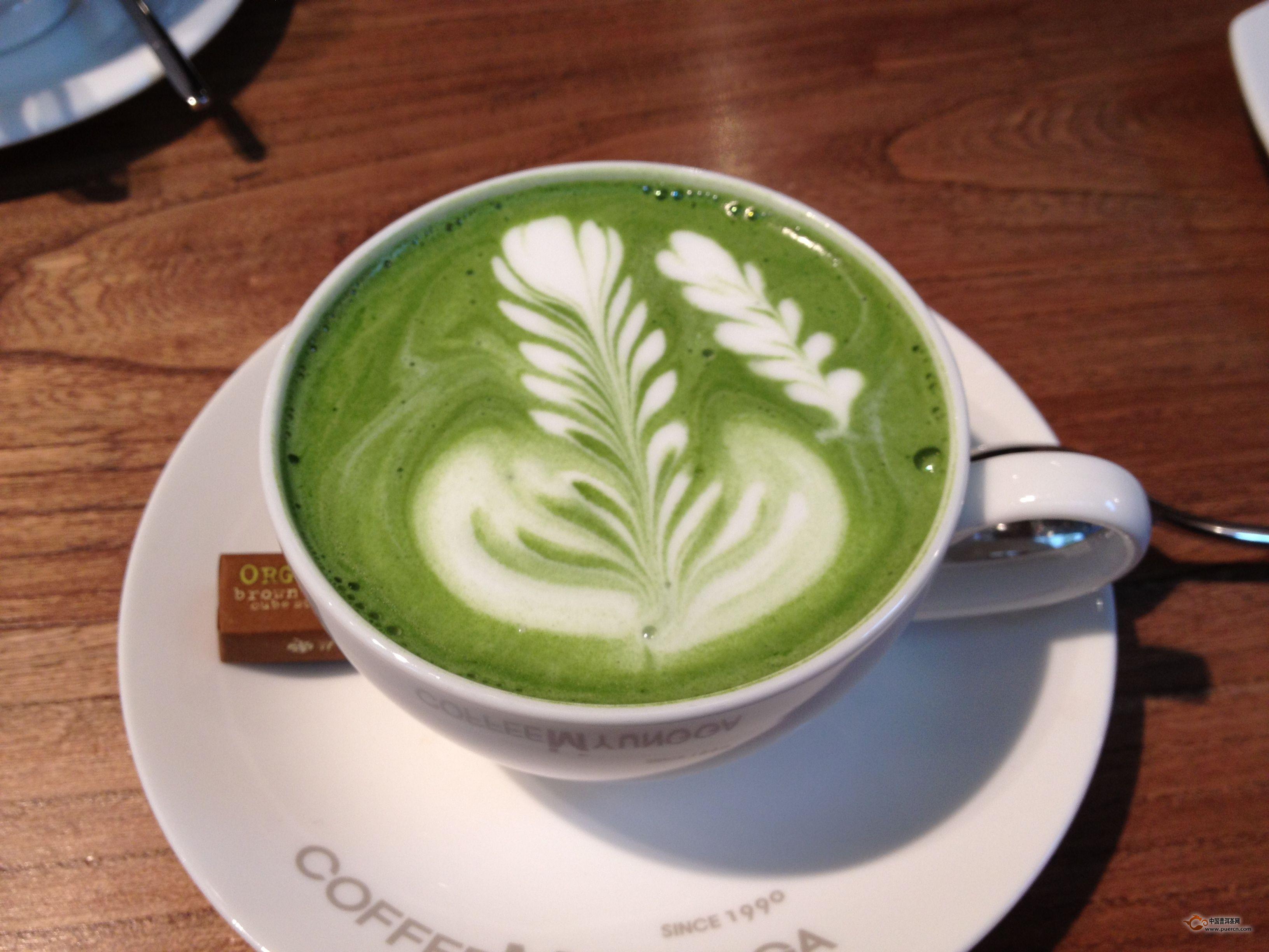 舌尖上的美食:绿茶拿铁