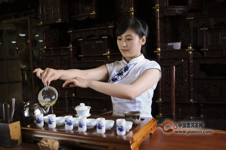 普洱茶的茶艺表演
