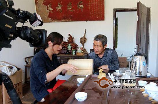 央视记者采访福鼎白茶传统制作技艺的非遗传承人