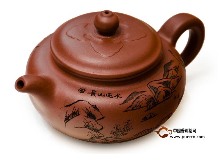 现代陶艺手法制作的茗壶:紫砂壶