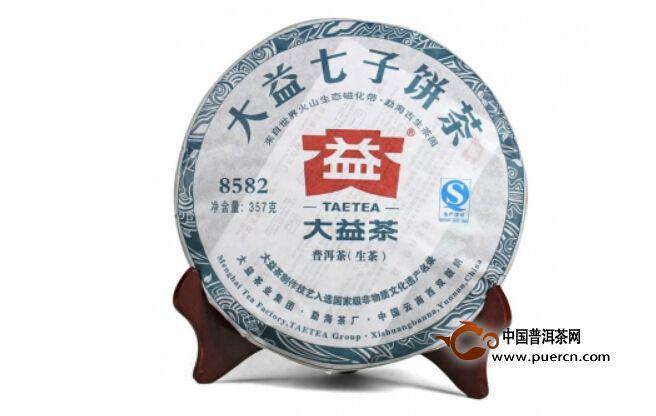 普洱茶品大益8582青饼201批6月12日至12月31日行情回顾