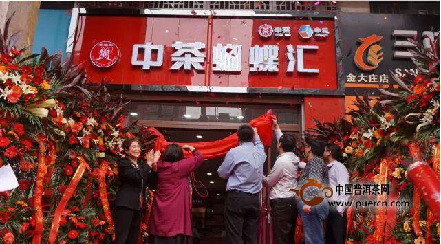 中茶·蝴蝶汇中原首家体验店开业