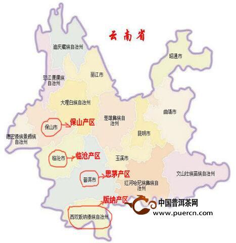 云南普洱景冬地图