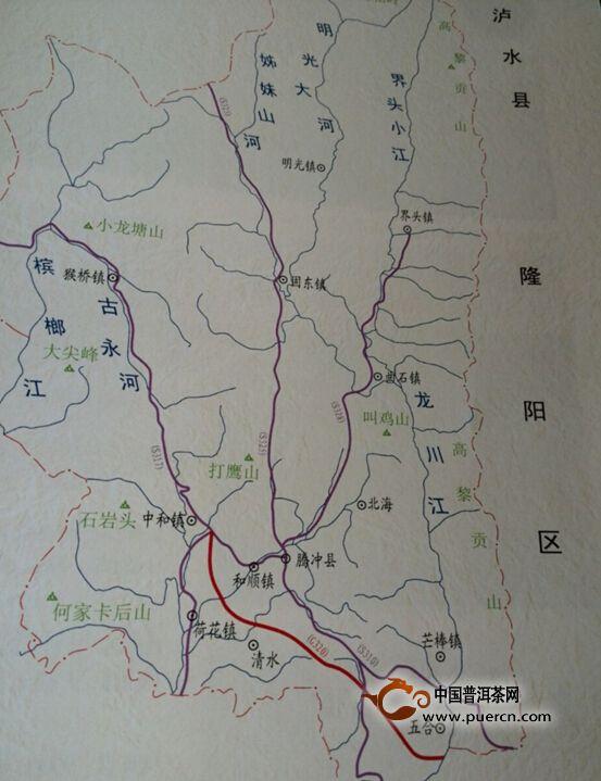 腾冲县示意图