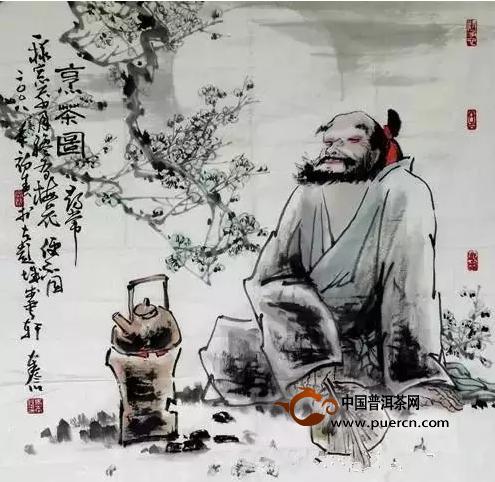 添上一盏茶,但喝茶的情境若是如此:藏有千卷藏书图片