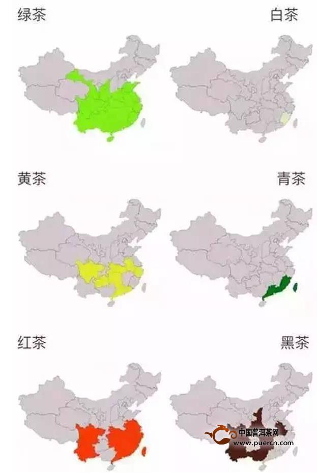 中国茶地域分布图(全中国的茶都在这里) - 茶叶百科—图片