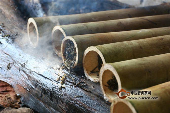 傣族竹筒香茶的制作