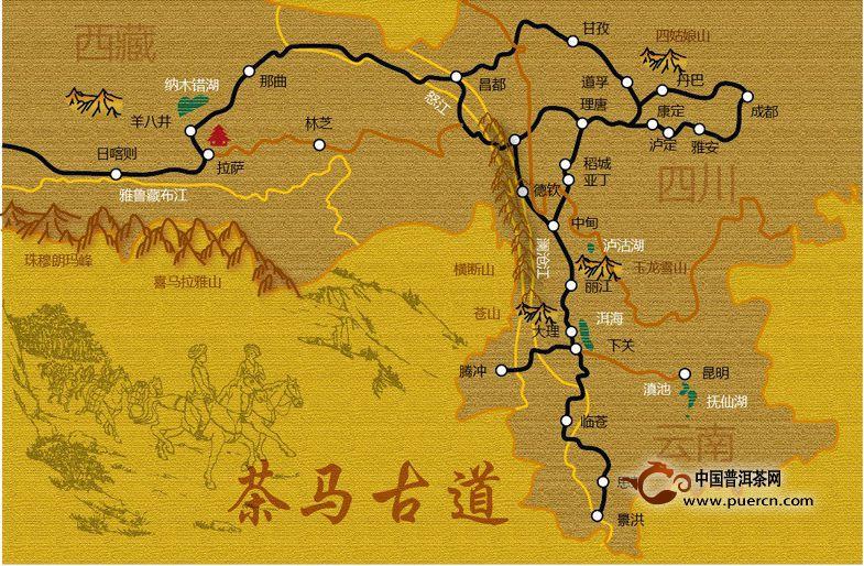 茶马古道三条路线图介绍
