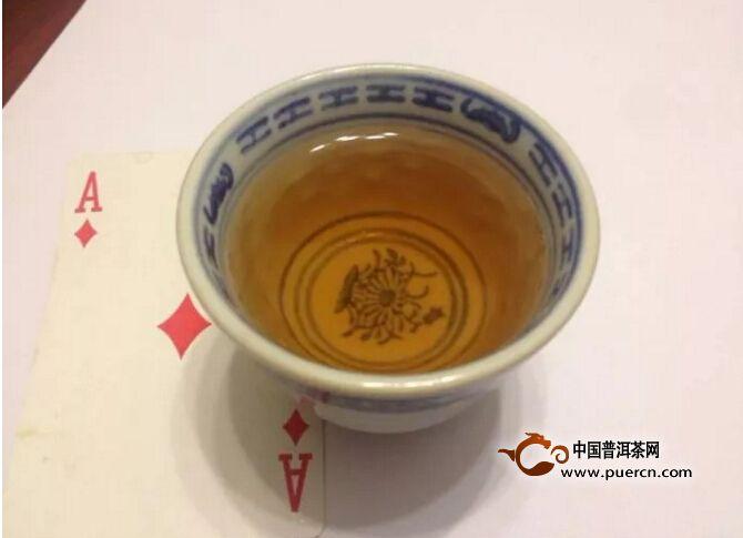 2000年班章青贡饼200克茶汤