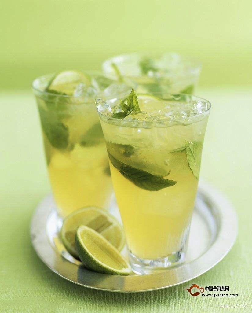 新鲜柠檬和绿茶能一起泡着喝吗