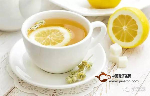 柠檬普洱茶的制作方法