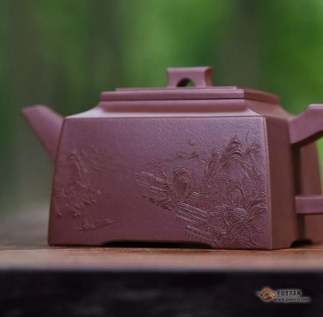 紫砂壶的泥绘是怎么画上去的?