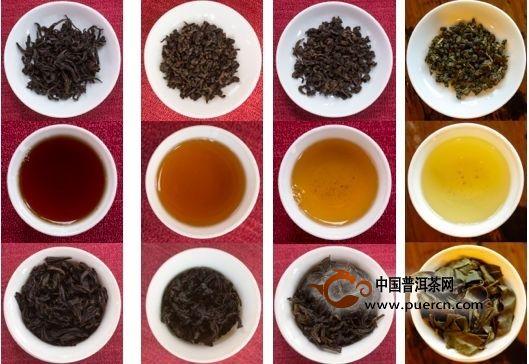 中国茶叶按颜色怎么分类