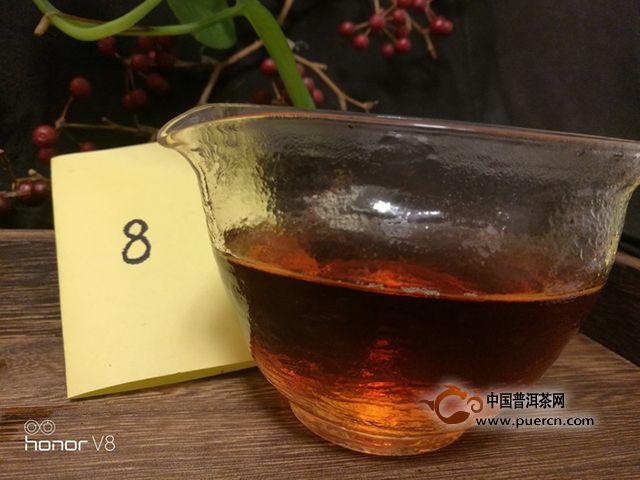 孔雀之乡越陈越香八角亭熟茶试喝报告