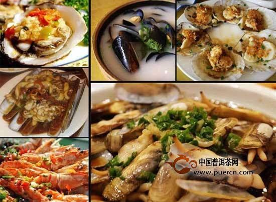 海鲜和绿茶能一起吃吗?