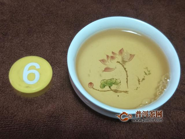 2007年中茶普洱景迈明前春芽生茶357克开汤评测