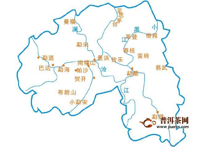 布朗山的地理位置
