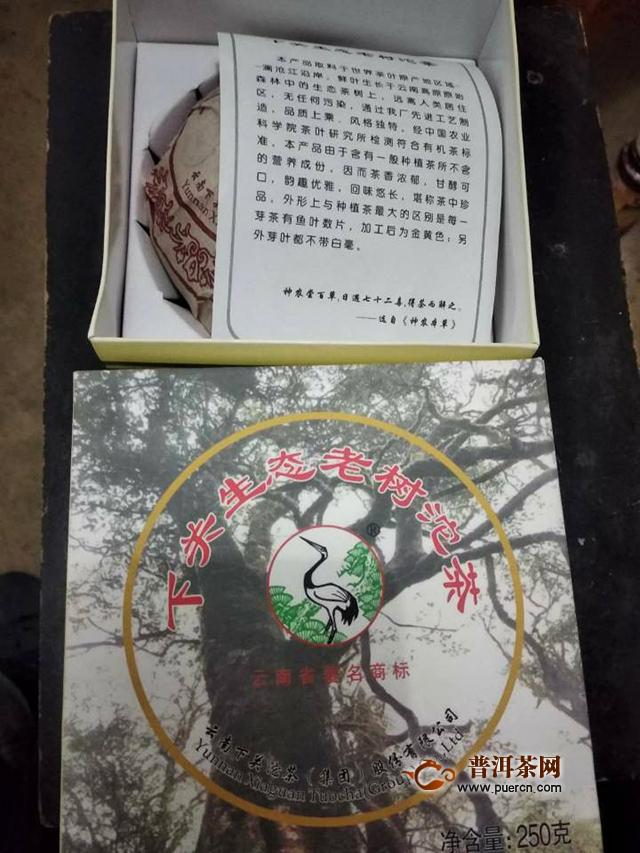 2012年下关沱茶生态老树沱生茶品鉴报告