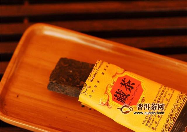 唐康藏茶喝法,用90度以上沸水闷泡后再喝!