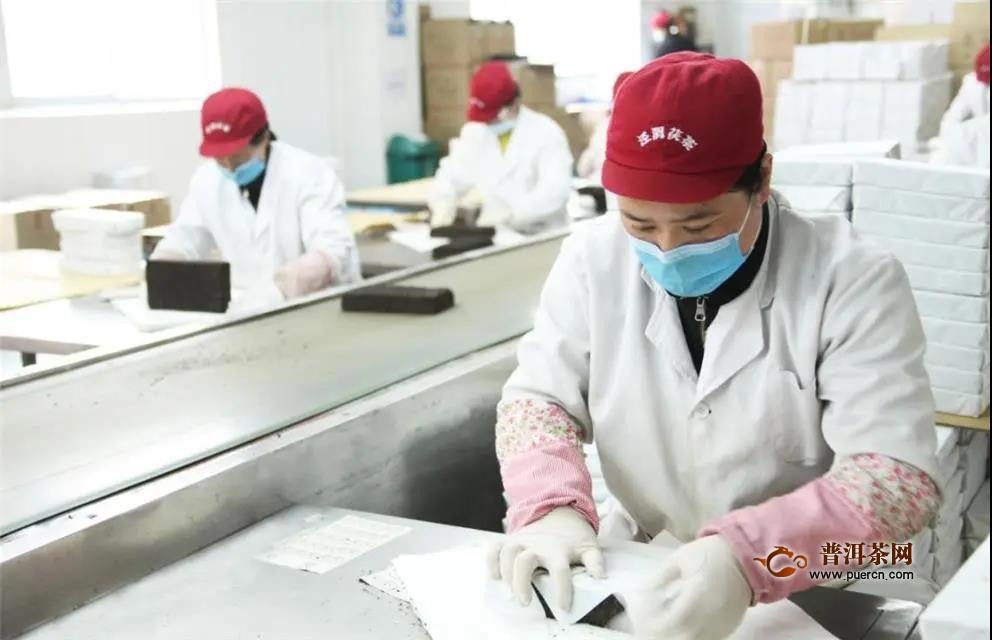 """泾渭茯茶防""""疫""""复工双线抓"""