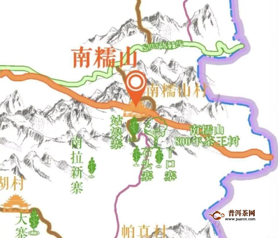南糯山茶区地理位置及茶叶产品特点