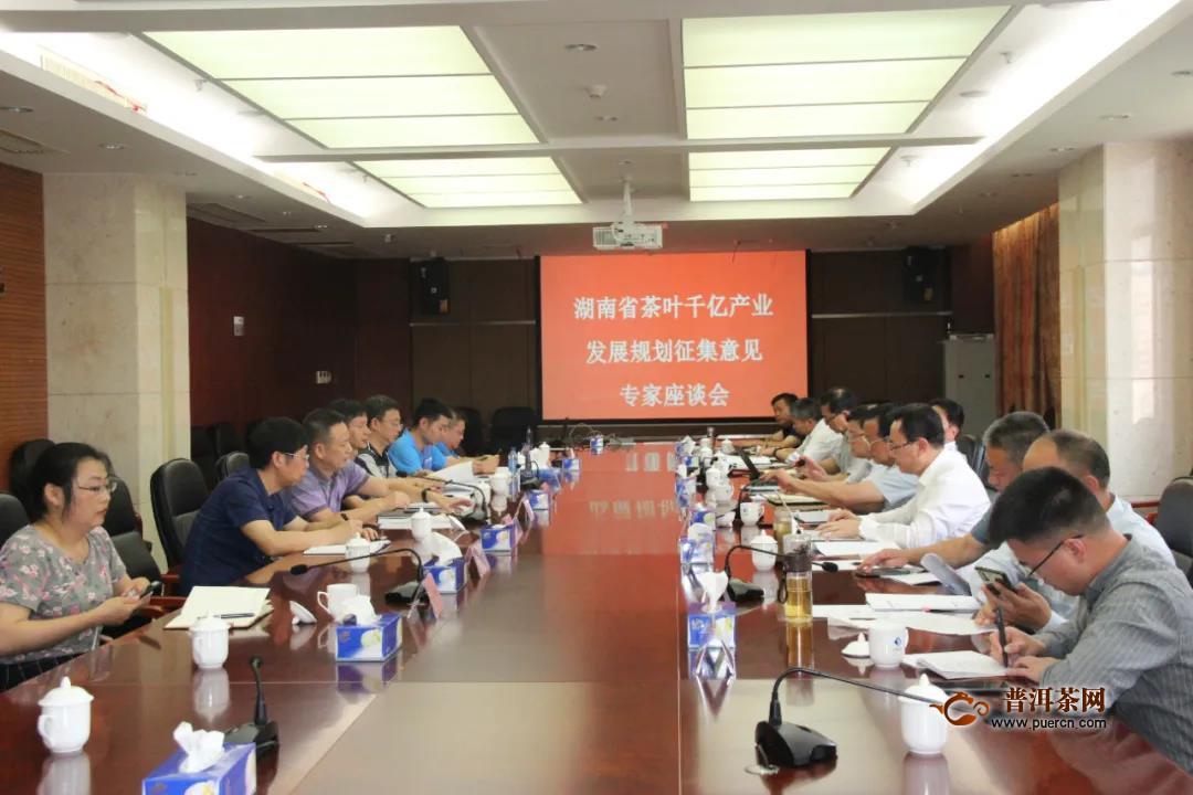 湖南省千亿茶叶产业高质量发展规划(2020-2025)专家座谈会召开