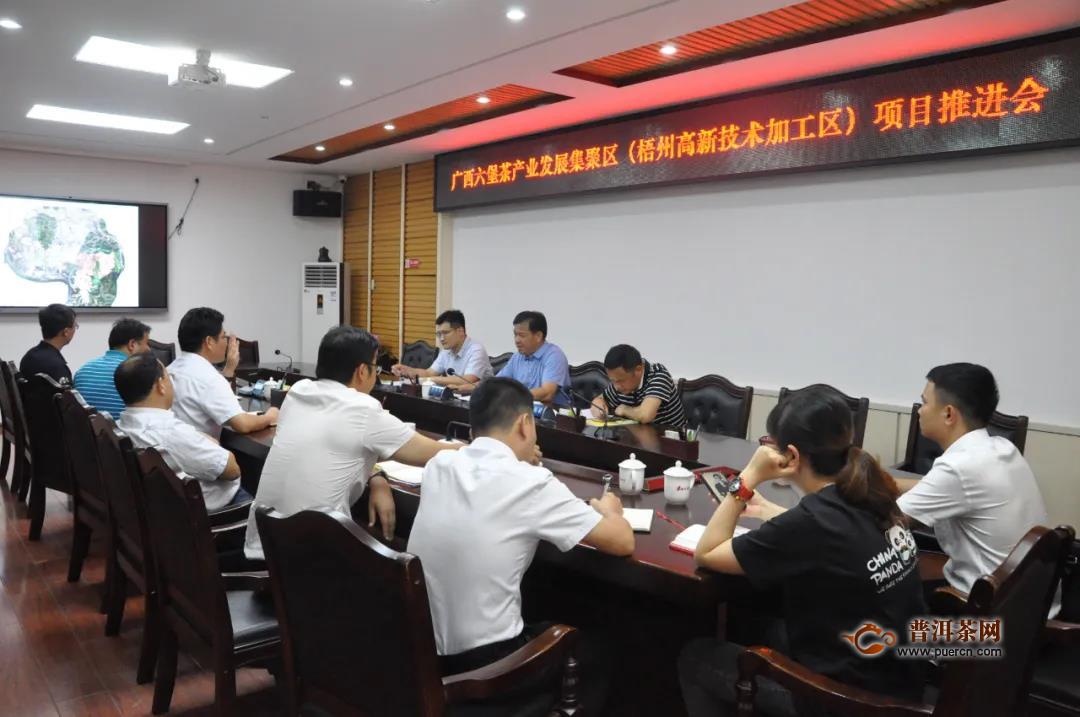 副市长何世恰调研广西六堡茶产业发展集聚区项目