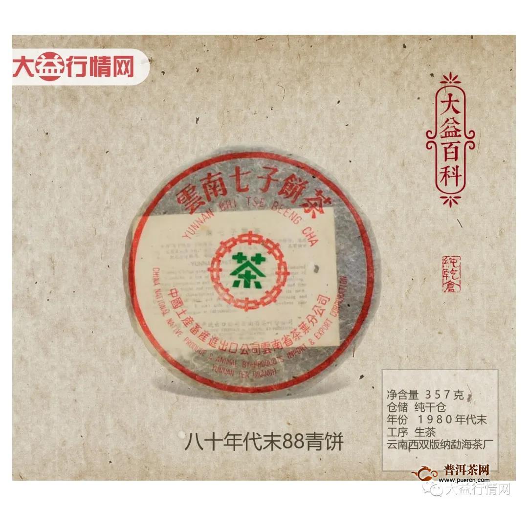 【大益百科】八十年代末88青饼